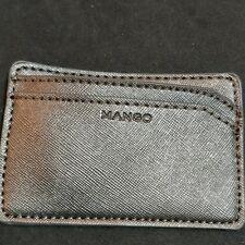 Mango Card Case PEWTER SILVER METALLIC