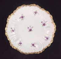"Klingenberg AKCD Laviolette Limoges France Purple Violets 9 7/8"" Bowl c.1900-10"