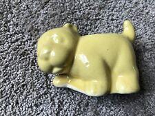 vintage bright yellow dog planter