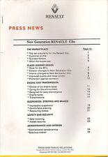 RENAULT Clio 1994 grandi comunicato stampa per nuovo modello * POST gratis Regno Unito *