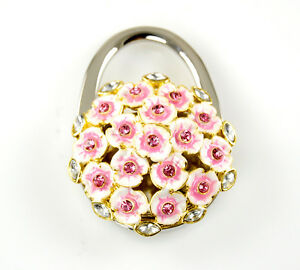 "Stylish Foldable Handbag Holder ""Flower Bouquet Look"" Purse Hook"