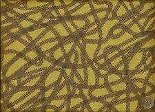 Woven Script Citrus Abstract Contemporary Maize Taupe Upholstery Fabric