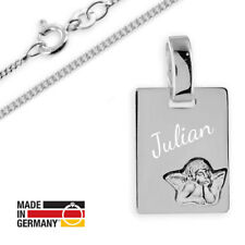 Taufkette,Kinderkette,Gravur Platte mit Schutzengel-Silber 925- Kette & Gravur