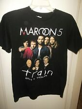 Maroon Five Medium T-Shirt 2011 Concert Tour 100% Cotton Black w/Graphics