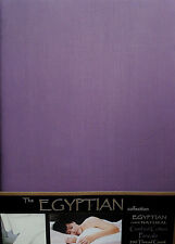 SINGLE BED DUVET COVER SET PURPLE PLUM EGYPTIAN COTTON PERCALE 200 THREAD COUNT