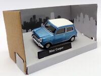 Cararama 1/43 Scale Model Car 441340 - Mini Cooper - Metallic Blue