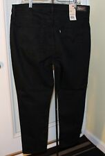NEW Levis 512 Tummy Slimming Skinny Leg Black Jeans Plus Sz 18WS