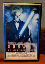 Film VHS (1986) SUBWAY cinema LUC BESSON, CHRISTOPHE LAMBERT, ISABELLE ADJAN, IT