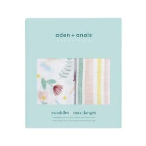 aden + anais floral fauna 2-pack muslin swaddles  SALE! REDUCED!