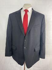 Joseph Feiss Men's Black Textured Wool Suit 48R 45X28 $495