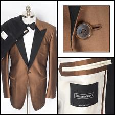 $6K NWT Mens STEFANO RICCI Melange 100% Silk Runway Tuxedo Tux Suit 54 44 / 46 L