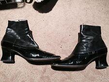 Prada booties Ladies size 40 Black leather/patent leather