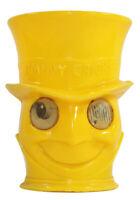 Vintage Jiminy Cricket Yellow Google Eyed Plastic Cup 1950's Walt Disney