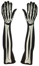 58cm Long Adult Skeleton Gloves (printed)