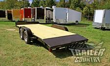 NEW 2018 7 x 18 7K Rice Open Deck Utility Equipment CarHauler Car Hauler Trailer