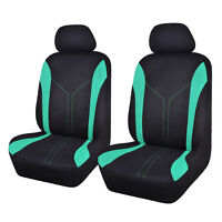 car seat covers 2 fronts set protectors mesh washable mint green low bucket