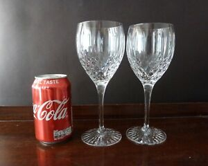 2 Royal Doulton Crystal Hampstead Cut Big Water or Wine Glasses Not Signed h20cm