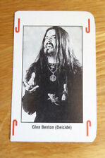 GLEN BENTON DEICIDE SINGLE JOKER CARD KERRANG THE KING OF METAL 1990's