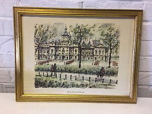 Vintage Juan Sevilla Siez Print After Painting Horse Guards Parade London