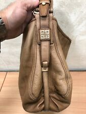 Authentic GIVENCHY TAN leather Purse / Hand bag  - MEDIUM R