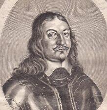 Gravure XVIIIe Portrait Philippus de Beck