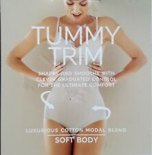 "NEW M&S ""TUMMY TRIM"" SHAPES & SMOOTHES MEDIUM  - LIGHT CONTROL BODY 8 -10 ALMOND"