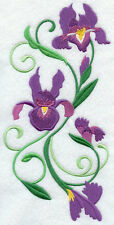 IRIS SPRAY NEW SET OF 2 BATH HAND TOWELS EMBROIDERED BY LAURA