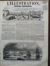 L'ILLUSTRATION 1851 N 444 DEBARQUEMENT DE L'AMIRAL NICOLAS VAILLANT, AU MEXIQUE