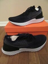 Nike Epic React Flyknit Size 11.5 Black Black Dark Grey AQ0067 001 New NIB Ltd