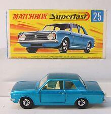 Matchbox Superfast #25 FORD CORTINA G.T. near mint in box METALLIC BLUE