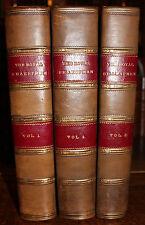 1883 The ROYAL Shakespeare Shakspere Chronological Order 3 Volumes Illustrated