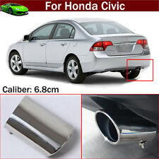 Exhaust Muffler Tail Pipe Tip Tailpipe Emblem For For Honda Civic 2012-2017
