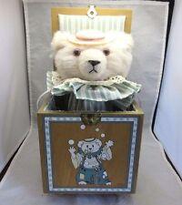 1984 Juggles the Bear Jack in the Box. Teddy bear music box. Enesco