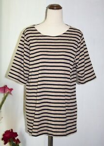 Suzannegrae T-shirt Size XL Brown/Black Tee Striped