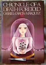 Chronicle of a Death Foretold * Gabriel Garcia Marquez * 1st Edition * HC/DJ