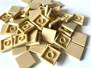 LEGO ®  50 Fliesen 2x2 in   beige /  sandfarben /  tan, NEUWARE