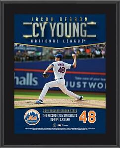 """Jacob deGrom New York Mets 10.5"""" x 13"""" 2019 NL Cy Young Award Sublimated Plaque"""