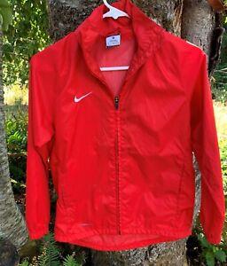 NIKE windbreaker Jacket Unisex Youth M medium ~ red soccer hoodie