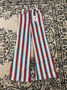 Wrangler Women's Rainbow Stripe Wanderer Flare Jeans (25)