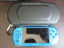 Sony PSP 3000 console Vibrant Blue Japan ver w/case a160