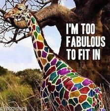 Funny Fabulous Giraffe  Refrigerator / Locker  Magnet Gift Card Insert