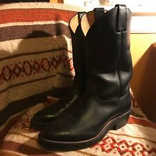 BRAND NEW Men's Chippewa Black Roper Pull On Western Boots Size 9 1/2 Wide
