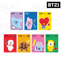 BTS BT21 Official Authentic Goods Soft Deco Sticker 7SET by Kumhong +Tracking #