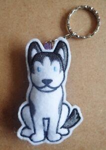 Siberian Husky keyring - handmade