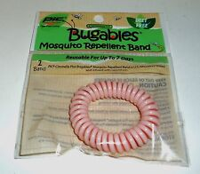 PIC Pest Free Living Citronella Bugables Mosquito Rellent Wrist Band PINK NIP