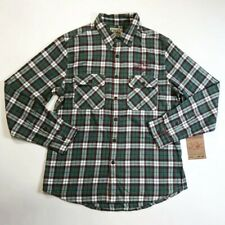 TRUE RELIGION MENS 100% AUTHENTIC SERVICE WORKWEAR PLAID BUTTON UP SHIRT SIZE L