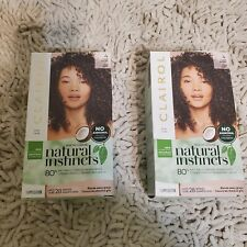 Lot of 2 Clairol Natural Instincts Semi-Permanent Hair Color Nutmeg Dark Brown 4