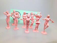 Marx Set of 8 Pink Bathing Beauties Beauty Burlesque Figures.