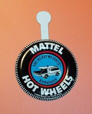 HOT WHEELS Mattel Vintage Redline AMBULANCE Tin Button Badge - NM