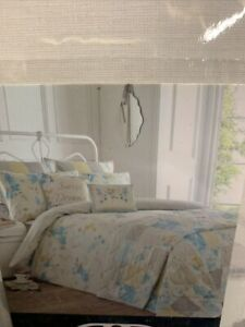Dreams & Drapes Palonia Easy Care Duvet Cover Set Double Duck Egg